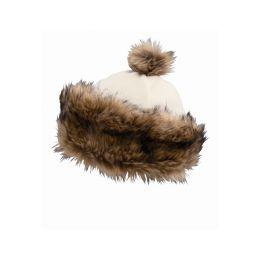 CAPO Čepice Cap w. Fur-Lapel a. Fur-Pompon S - 1