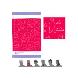 Sensor multifunkční šátek tube Bears pink  baby - 1