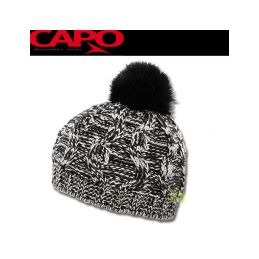 CAPO Čepice Knitted Cap w. realhair - pompon - 1