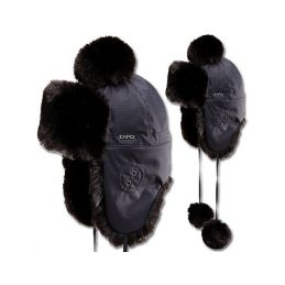 CAPO čelenka Knitted headband w. strass stones - 1