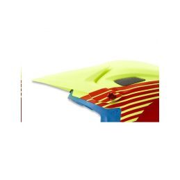 GIRO Cipher/Disciple Visor-mat glow red/highlight yellow - 1