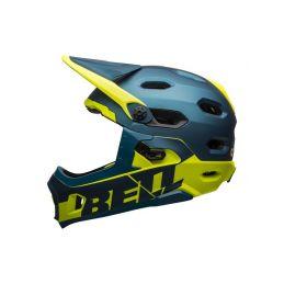 BELL Super DH Spherical Mat/Glos Blue/Hi-Viz M - 1